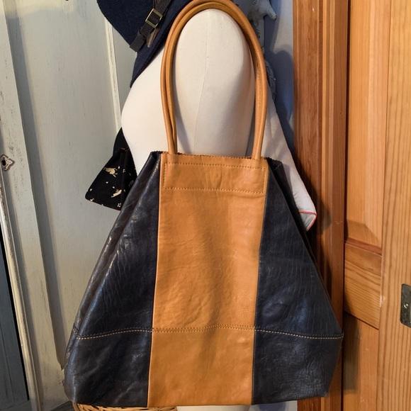 Banana Republic Handbags - Leather two tone tote bag